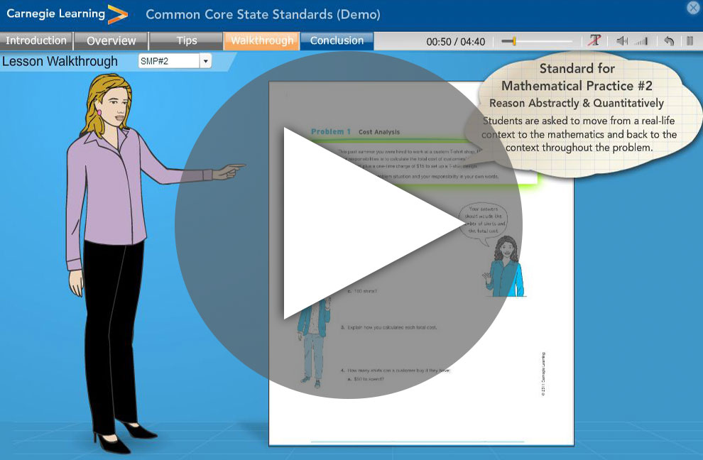 Watch Our CCSS Lesson Walkthough