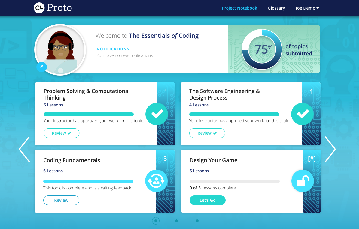 Proto Student Home Page