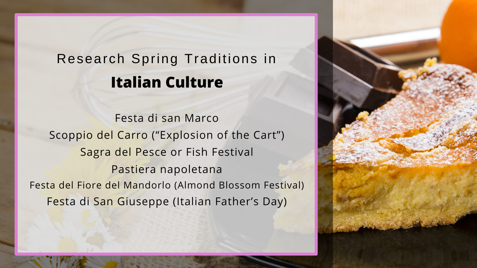 Italian spring traditions