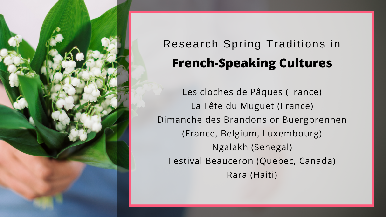French. spring traditions