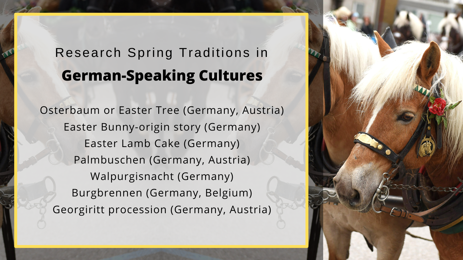German spring traditions
