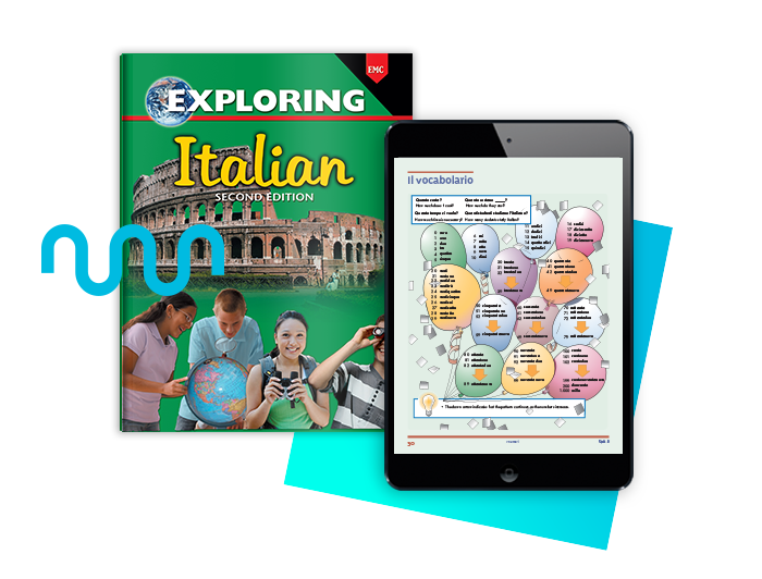 Exploring Series for Italian language learning second edition textbook and digital access
