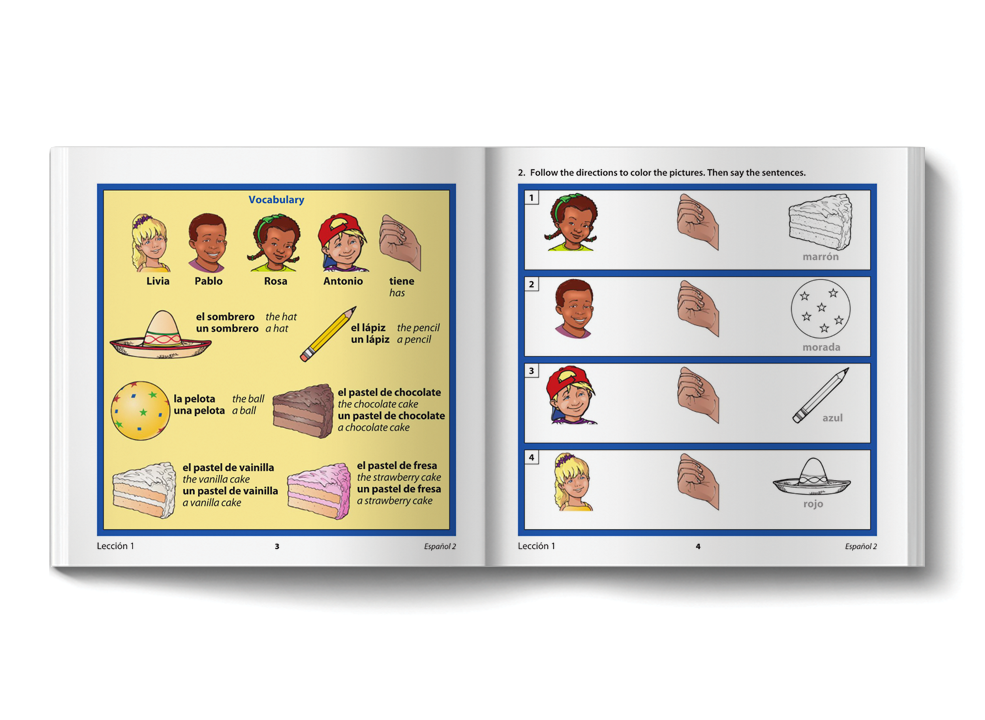 Vocabulary activities in Symtalk student workbook